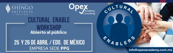 CULTURAL ENABLE WORKSHOP 26 y 27 DE ABRIL EDO DE MEXICO